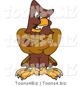 Vector Illustration of a Cartoon Falcon Mascot Character with an Angry Expression by Toons4Biz