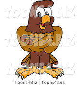 Vector Illustration of a Cartoon Falcon Mascot Character with His Arms Crossed by Toons4Biz
