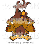 Vector Illustration of a Cartoon Falcon Mascot Character with Messy Hair by Toons4Biz