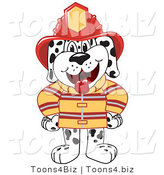 Vector Illustration of a Cartoon Fireman Dalmatian Mascot by Toons4Biz
