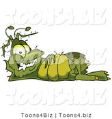 Vector Illustration of a Cartoon Germ Mascot Relaxing by Toons4Biz