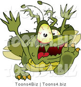 Vector Illustration of a Cartoon Germ Mascot Running by Toons4Biz