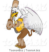Vector Illustration of a Cartoon Griffin Mascot Batting by Toons4Biz