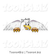 Vector Illustration of a Cartoon Griffin Mascot Behind a Blank Sign by Toons4Biz
