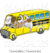 Vector Illustration of a Cartoon Griffin Mascot Driving a Bus by Toons4Biz