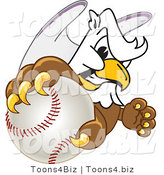 Vector Illustration of a Cartoon Griffin Mascot Grabbing a Baseball by Toons4Biz
