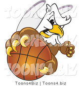 Vector Illustration of a Cartoon Griffin Mascot Grabbing a Basketball by Toons4Biz