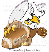Vector Illustration of a Cartoon Griffin Mascot Grabbing a Football by Toons4Biz