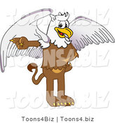 Vector Illustration of a Cartoon Griffin Mascot Pointing Left by Toons4Biz