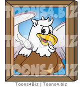 Vector Illustration of a Cartoon Griffin Mascot Portrait by Toons4Biz
