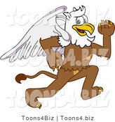 Vector Illustration of a Cartoon Griffin Mascot Running by Toons4Biz