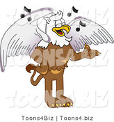 Vector Illustration of a Cartoon Griffin Mascot Singing by Toons4Biz
