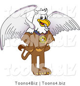 Vector Illustration of a Cartoon Griffin Mascot Wearing a Medal by Toons4Biz