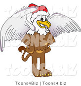 Vector Illustration of a Cartoon Griffin Mascot Wearing a Santa Hat by Toons4Biz