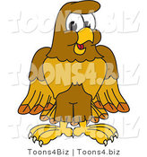 Vector Illustration of a Cartoon Hawk Mascot Character by Toons4Biz