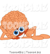 Vector Illustration of a Cartoon Human Brain Mascot Reclining by Toons4Biz