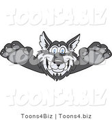 Vector Illustration of a Cartoon Husky Mascot Lurching Forward by Toons4Biz