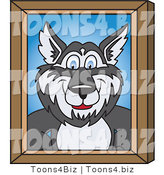Vector Illustration of a Cartoon Husky Mascot Portrait by Toons4Biz