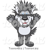Vector Illustration of a Cartoon Husky Mascot with Spiked Hair by Toons4Biz