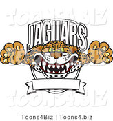 Vector Illustration of a Cartoon Jaguars Mascot Logo by Toons4Biz