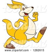 Vector Illustration of a Cartoon Kangaroo Mascot Running or Speed Walking by Toons4Biz