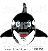 Vector Illustration of a Cartoon Killer Whale Orca Mascot by Toons4Biz