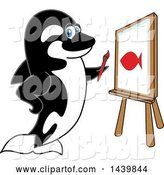 Vector Illustration of a Cartoon Killer Whale Orca Mascot Painting by Toons4Biz