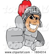 Vector Illustration of a Cartoon Knight Mascot Holding a Thumb up by Toons4Biz