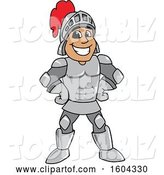 Vector Illustration of a Cartoon Knight Mascot with Hands on His Hips by Toons4Biz