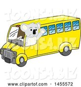 Vector Illustration of a Cartoon Koala Bear Mascot Driving a Bus by Toons4Biz