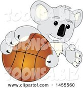 Vector Illustration of a Cartoon Koala Bear Mascot Grabbing a Basketball by Toons4Biz