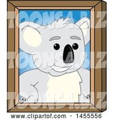 Vector Illustration of a Cartoon Koala Bear Mascot Portrait by Toons4Biz