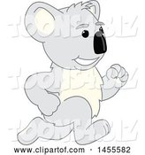 Vector Illustration of a Cartoon Koala Bear Mascot Running by Toons4Biz