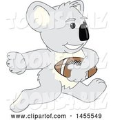 Vector Illustration of a Cartoon Koala Bear Mascot Running with a Football by Toons4Biz