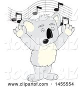 Vector Illustration of a Cartoon Koala Bear Mascot Singing by Toons4Biz