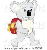 Vector Illustration of a Cartoon Koala Bear Mascot Student Walking by Toons4Biz