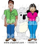 Vector Illustration of a Cartoon Koala Bear Mascot with Parents by Toons4Biz