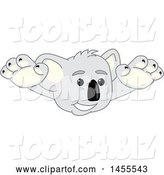Vector Illustration of a Cartoon Koala Bear Mascot Wrestler Leaping or Swimmer Diving by Toons4Biz