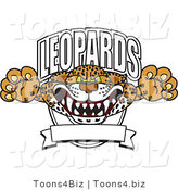 Vector Illustration of a Cartoon Leopards Mascot Logo by Toons4Biz