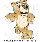 Vector Illustration of a Cartoon Lion Cub School Mascot Leaning by Toons4Biz
