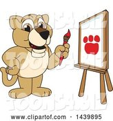 Vector Illustration of a Cartoon Lion Cub School Mascot Painting by Toons4Biz