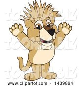 Vector Illustration of a Cartoon Lion Cub School Mascot with a Mohawk by Toons4Biz