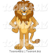 Vector Illustration of a Cartoon Lion Mascot by Toons4Biz