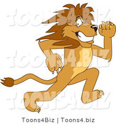 Vector Illustration of a Cartoon Lion Mascot Running by Toons4Biz