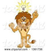 Vector Illustration of a Cartoon Lion Mascot with an Idea, Symbolizing Being Resourceful by Toons4Biz