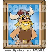 Vector Illustration of a Cartoon Male Viking School Mascot Portrait by Toons4Biz