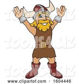 Vector Illustration of a Cartoon Male Viking School Mascot Welcoming by Toons4Biz