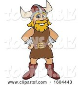 Vector Illustration of a Cartoon Male Viking School Mascot with Hands on His Hips by Toons4Biz
