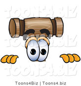 Vector Illustration of a Cartoon Mallet Mascot Peeking over a Surface by Toons4Biz