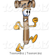 Vector Illustration of a Cartoon Mallet Mascot Running by Toons4Biz